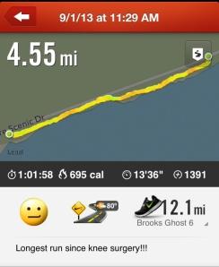 4.5 Mile Run 9/1/13