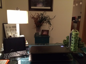 My reorganized home office.